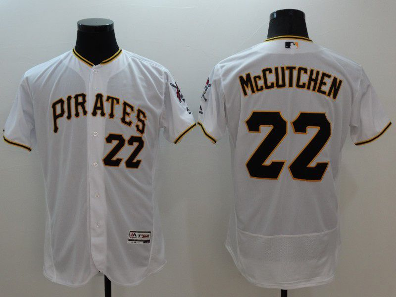Mens Majestic Pittsburgh Pirates #22 Andrew Mccutchen White Flexbase Collection Jersey