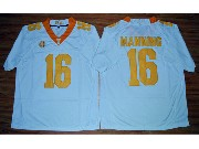 Mens Ncaa Nfl 2015 Tennessee Volunteers #16 Peyton Manning White Football Jersey