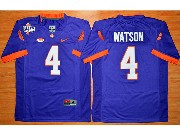 Youth Ncaa Nfl Clemson Tigers #4 Deshaun Watson Purple College Football Jersey