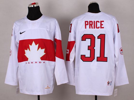 Mens nhl team canada #31 price white (2014 olympics) Jersey