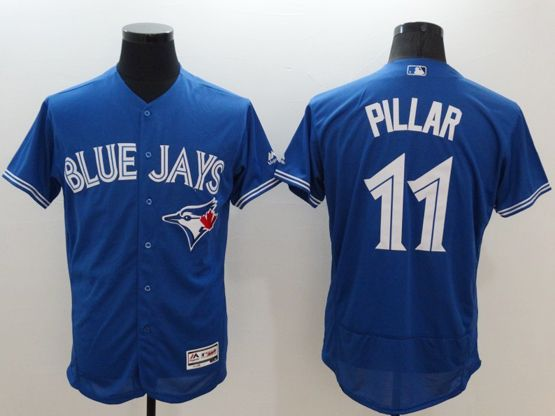 mens majestic toronto blue jays #11 kevin pillar blue Flex Base jersey