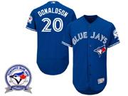 Majestic Toronto Blue Jays #20 Josh Donaldson Blue 40th Anniversary Flexbase Collection Jersey