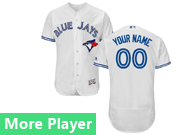 Mens Majestic Toronto Blue Jays White Flex Base Jersey