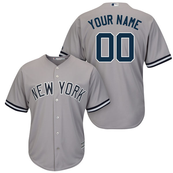 Mens Majestic New York Yankees Gray Cool Base Jersey