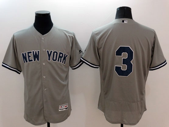 mens majestic new york yankees #3 ruth gray Flex Base jersey