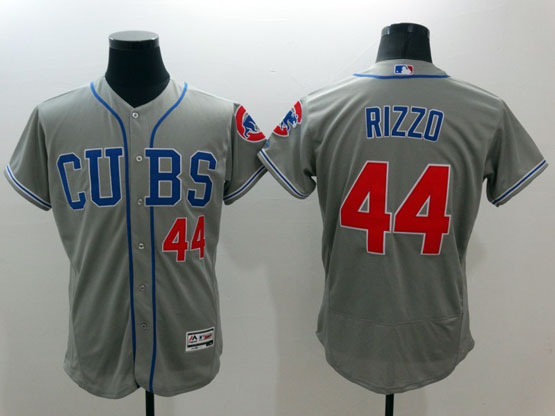mens majestic chicago cubs #44 rizzo gray Flex Base jersey