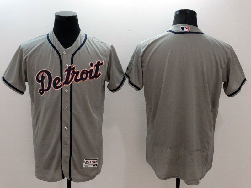 mens majestic detroit tigers (blank) gray Flex Base jersey