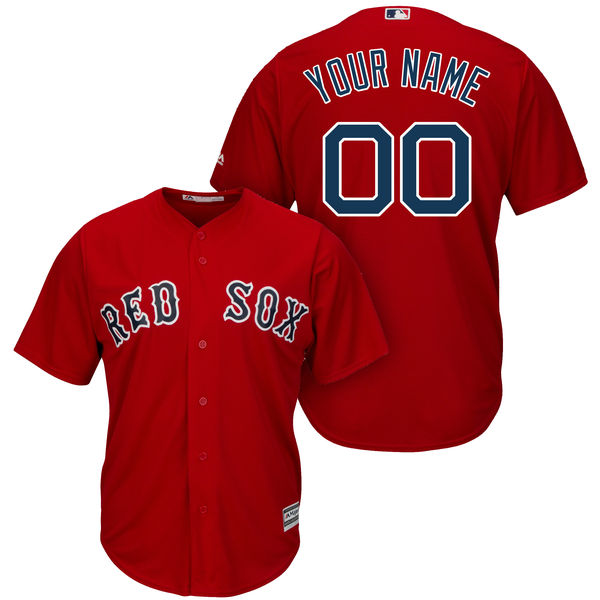 Mens Majestic Boston Red Sox Red Cool Base Jersey