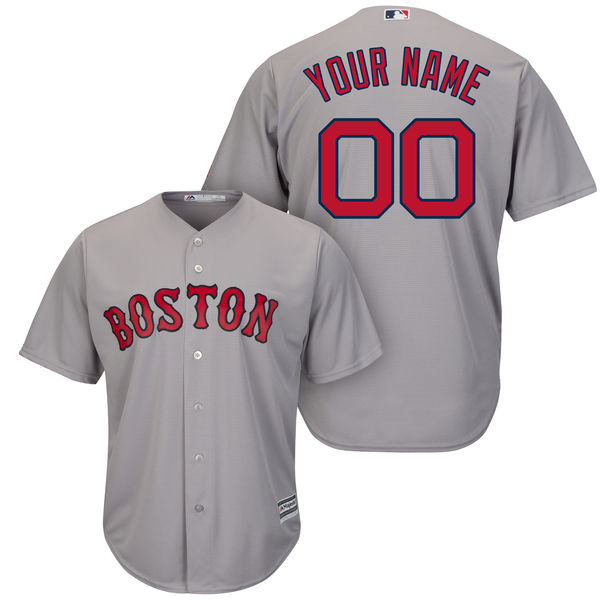 Mens Majestic Boston Red Sox Gray Cool Base Jersey