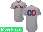 Mens Majestic Boston Red Sox Gray Flex Base Jersey