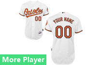 Mens Majestic Baltimore Orioles White Cool Base Jersey