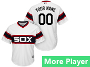 Mens Majestic Chicago White Sox White Cool Base Jersey