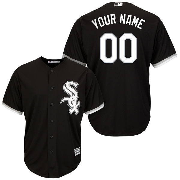 Mens Majestic Chicago White Sox Black Cool Base Jersey