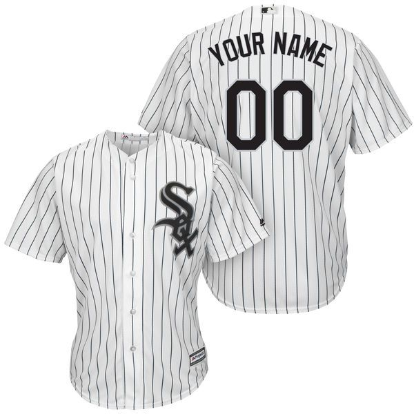 Mens Majestic Chicago White Sox White Stripe Cool Base Jersey