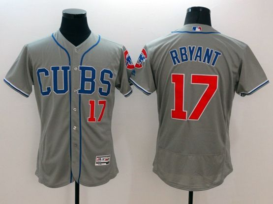 mens majestic chicago cubs #17 bryant gray Flex Base jersey