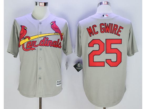 Mens Mlb St.louis Cardinals #25 Mark Mcgwire Gray Jersey