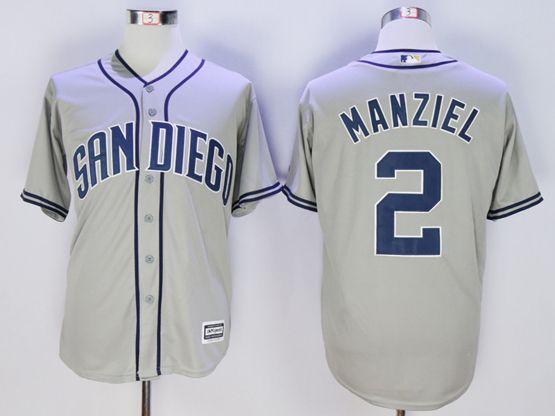 Mens Mlb San Diego Padres #2 Manziel Gray Jersey