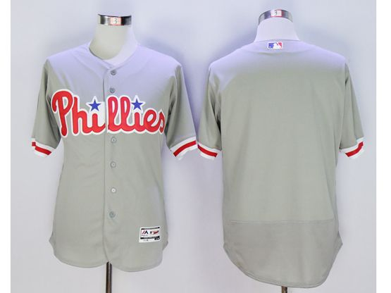 Mens Majestic Philadelphia Phillies Blank Gray Flexbase Collection Jersey