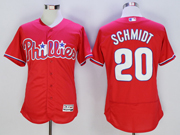 mens majestic philadelphia phillies #20 mike schmidt red Flex Base jersey