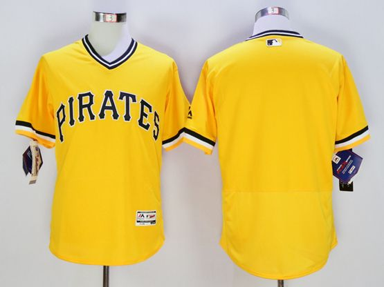 mens majestic pittsburgh pirates blank gold Flex Base jersey