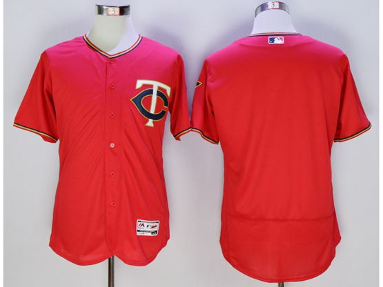 mens mlb minnesota twins blank red Flex Base jersey