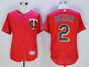mens mlb minnesota twins #2 brian dozier red Flex Base jersey