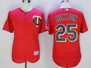 mens mlb minnesota twins #25 byron buxton red Flex Base jersey
