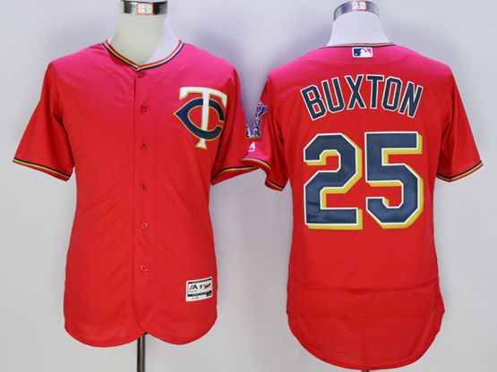 mens mlb minnesota twins #25 byron buxton red Flex Base jersey