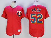 mens mlb minnesota twins #52 byung ho park red Flex Base jersey