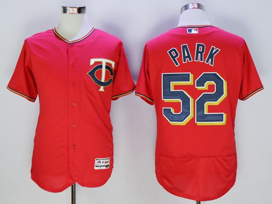 Mens Mlb Minnesota Twins #52 Byung Ho Park Red Flexbase Collection Jersey