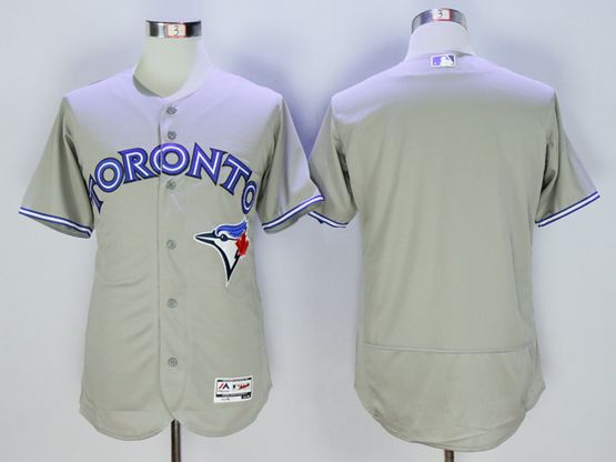 mens majestic toronto blue jays blank gray Flex Base jersey