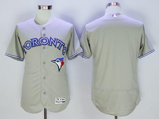 mens majestic toronto blue jays blank gray Flex Base jersey