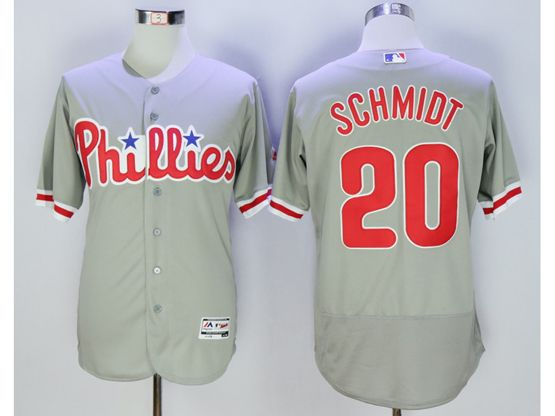 Mens Majestic Philadelphia Phillies #20 Mike Schmidt Gray Flexbase Collection Jersey