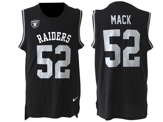 Mens Nfl Oakland Raiders #52 Mack Black Tank Top Jersey