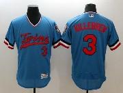 Mens Majestic Minnesota Twins #3 Killebrew Blue Flex Base Pullover Jersey