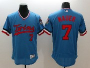 mens majestic minnesota twins #7 mauer blue Flex Base jersey