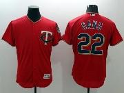 mens majestic minnesota twins #22 sano red Flex Base jersey