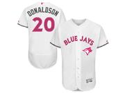 Majestic Toronto Blue Jays #20 Josh Donaldson White 2016 Mother's Day Flex Base Jersey