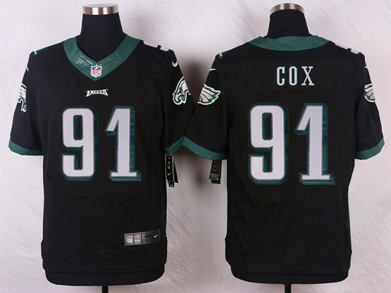 Mens Nfl Philadelphia Eagles #91 Fletcher Cox Black Elite Jersey