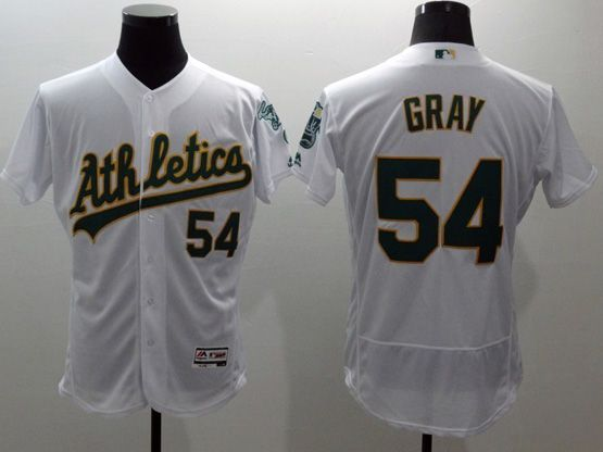 mens majestic mlb oakland athletics #54 sonny gray white Flex Base jersey