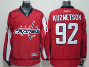 Mens Reebok Nhl Washington Capitals #92 Evgeny Kuznetsov Red Home Premier Jersey