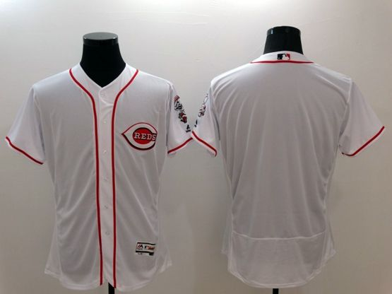 mens majestic cincinnati reds blank white Flex Base jersey