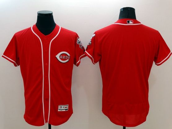 mens majestic cincinnati reds blank red Flex Base jersey