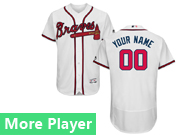 Mens Majestic Atlanta Braves White Flex Base Jersey