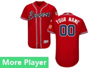 Mens Majestic Atlanta Braves Red Flex Base Jersey