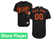 Mens Majestic Baltimore Orioles Black Flex Base Jersey