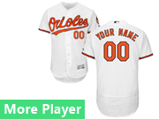Mens Majestic Baltimore Orioles White Flex Base Jersey