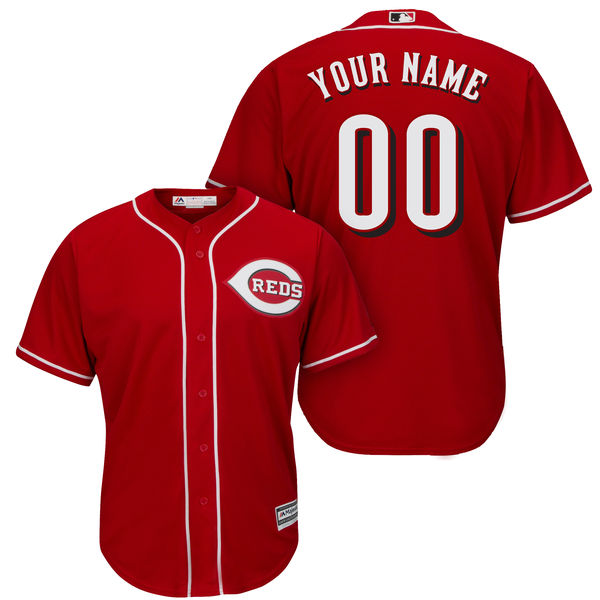 Mens Womens Youth Majestic Cincinnati Reds Red Cool Base Jersey