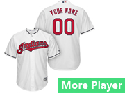 Mens Majestic Cleveland Indians White Cool Base Jersey