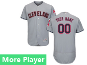 Mens Majestic Cleveland Indians Gray Flex Base Jersey